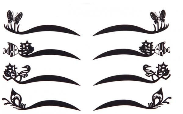 Armario Multiuso Para Lavanderia ~ Delineador Adesivo com Glitter 4 Modelos Ruiva Makeup Shop